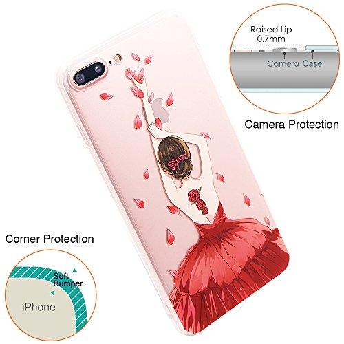 Coque iPhone SE, TrendyBox Transparent PC Hard Cover avec soft TPU Pare-chocs pour iPhone 5/5S/SE avec verre trempe film de protection (Musique blanche) 102