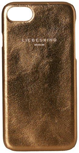 Liebeskind Berlin Damen Dobbyi7w7 Memila Taschenorganizer, Gold (Warm Beige), 1x7x14 cm (Handtasche Metallic Suede)