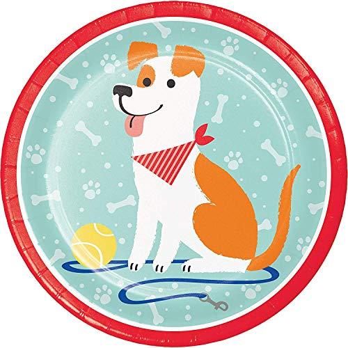 Neu: 8 Teller * Hundeparty * für eine Party rund um Haustiere | Jack Russell Terrier Mottoparty Kinder Motto Hund Hunde Haustier Knochen Tier Party Pappteller Partyteller Kindergeburtstag Geburtstag -