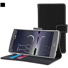 Funda G Flex 2, Snugg Carcasa Plegable para LG G Flex 2 [Ranuras para Tarjetas] Cubierta de Cuero con Billetera, Diseño Ejecutivo [Garantía de por Vida] -Negro, Legacy Range