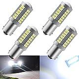 4pcs Blanc 1156 BA15S P21W 5630 33SMD Clignotants Ampoules LED 900LM Super Bright Feu de Recul Feu de Freinage Arrière Phares antibrouillard Position Feu arrière 12-30V 3.6W