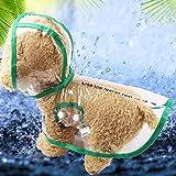 Smoro Haustier Hund Regenmantel Poncho mit Kapuze, Hund Welpen Haustier Leichte Wasserdichte Teddy transparent Kunststoff Poncho Regenmantel für Kleine und mittlere Hunde