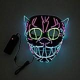 LED-Licht bis Maske Draht Glühende Maske, LED Leuchten Maske, DJ Maske, Halloween LED Leucht...