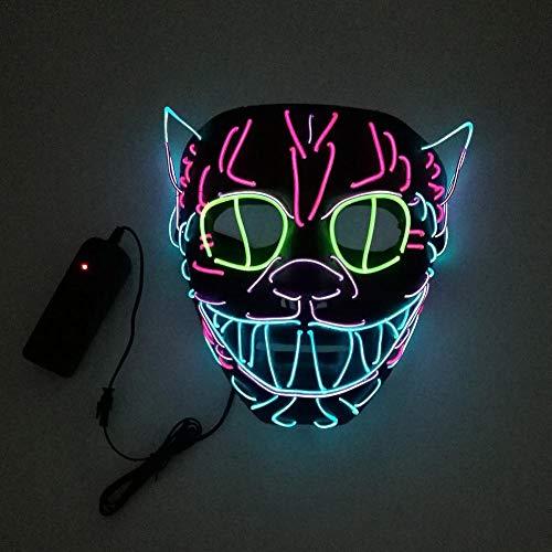 LED-Licht bis Maske Draht Glühende Maske, LED Leuchten Maske, DJ Maske, Halloween LED Leucht Maskerade Masken Grimasse Maske Party Festival Cosplay Kostüm