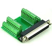 Electronics-Salon Slim rechts Winkel D 'sub DB37 Buchse Header Breakout Board Modul, TERMINAL BLOCK DSUB Stecker.