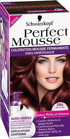 Schwarzkopf - Perfect Mousse - Coloration Permanente - Acajou 586
