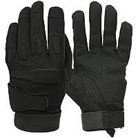 Mimicool Guantes al aire libre de los hombres llenos del dedo guantes tácticos militares patín de desgaste contra guantes resistentes ciclo de la bicicleta de la motocicleta (black, XL)