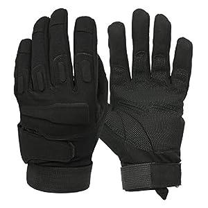 Mimicool Guanti Outdoor uomo Finger completa militari guanti tattici antiscivolo indossare guanti resistenti della bicicletta del motociclo (black, M)