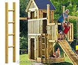 Holzleiter für Spielturmerweiterung, 150cm - Kinderspielgeräte für Garten, Spielgeräte für Kinder, Spielturm, Spieltürme