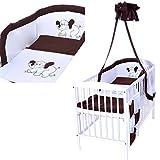 LCP Kids 1317 Literie de bébé ensemble XXL 9 pièces linge set avec brodées motifs - 100% coton motif: éléphant brun