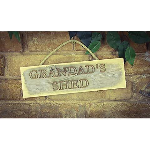 Cobertizo del abuelo, madera maciza grabado Sign