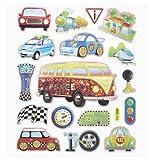 Hobbyfun 2D Sticker XXL Autos I Wandtattoo