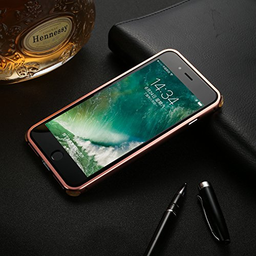 Meimeiwu 2 in 1 PC + Metall Dual-Werkstoff Telefon Rüstung Bumper Protictive Case hülle/tasche/Schutzhülle für iPhone 8 Plus - Grau Rose Gold