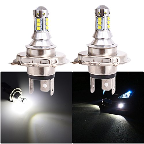 FEZZ 1000LM Extrem helle Auto LED Nebelscheinwerfer DRL Lampe H4 9V-30V DC 80W Weiß 2 Stücke