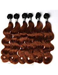 "BLISSHAIR 6 Tissage et 1 Milieu Part Lace Closure Cheveux Meshes Perruque Human Hair Weaving Extensions 14"" 14"" 14"" + 10"" closure"