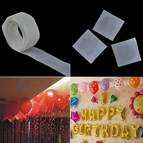 sovition 2Ballon Befestigung 100Klebstoff speziellen Doppelseitiges Klebeband Ballon Sticks Craft Roller Aufkleber (Ballon-befestigungen)