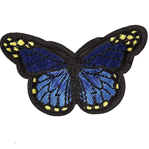 Einfach Kostüm Cop - Obctk Schmetterling bügeln Patch nähen Stickerei Tuch Patch, DIY Geschenk Tuch Abzeichen Applique kostüm Rucksack Hut Jeans Abzeichen Patch, Erwachsene Kinder Geschenke