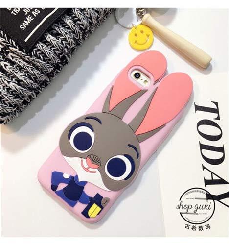 3D Grey Judy Hopps iPhone 5 Case Judi Hops 5S Cover 5 SE Zootopia Bunny Cute Childrens Animated CartoonThemed Kids Rabbit Girl Pink Blue Gray, TPU