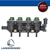 Landirenzo Landi Rail Einspritzleiste GI25-22 grün, komplett, LPG PGL