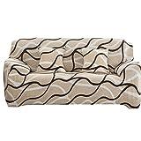 Souarts Sofabezug elastische Stretch SofaBezug mit 4 verschienden Größe Bezug Couchsessel Stretch Husse/Sofa Bezug/Sofabezüge /Sofa Husse (4 Sitzer 235-310cm, Khaki)
