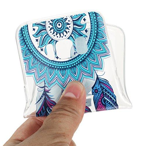 Coque Galaxy S8,Coque en Soft Silicone TPU Transparente pour Samsung Galaxy S8,Ekakashop Ultra Slim-fit Jolie Dolphins Jouer Dessin Antidérapant Coque de Protection TPU Flexible Souple Case Crystal Cl Capteur de Rêves Bleu