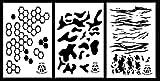 Acid Tactical® 3pezzi–23x 35cm Hexacam, Multicam, Jag camouflage vinile Airbrush stencil per vernice spray–Duracoat Cerakote Gun