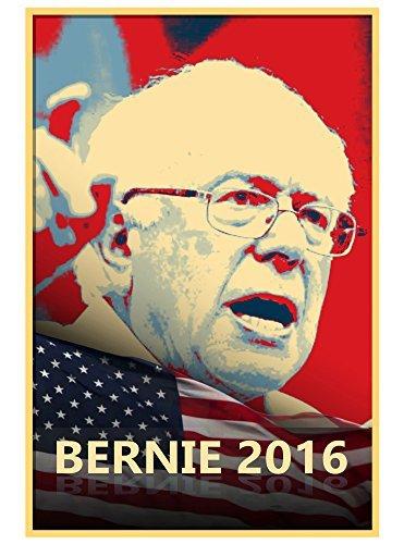 (Vinyl Print Poster - 18x24 Bernie 2016 - Presidential Candidate Design by Hat Shark)