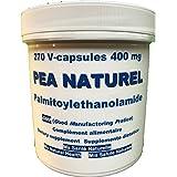 PEA NATUREL Palmitoyléthanolamide - DOULEURS CHRONIQUES - 270 capsules végétales de 400 mg-dosage pour 3 mois (3 capsules par jour) Date Limite d'Utilisation Optimale (DLUO): décembre 2019