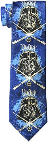 Star Wars Herren Darth Vader Schablonen-Krawatte - Blau - Einheitsgröße (Vader Schablone Darth)
