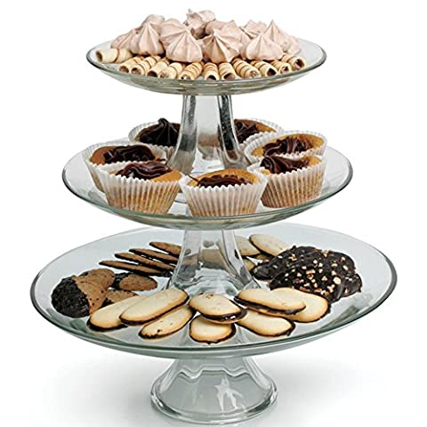 Anchor Hocking Presence 3-Tier Platter Set by Anchor
