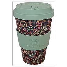 FLORIDITTA por Happy Earth (Taza de café ecológica reutilizable 450 ml, hecha con fibra