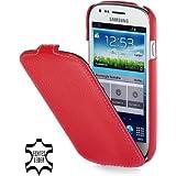 StilGut Ultraslim, Tasche aus Leder für Samsung S3 Mini i8190, Rot