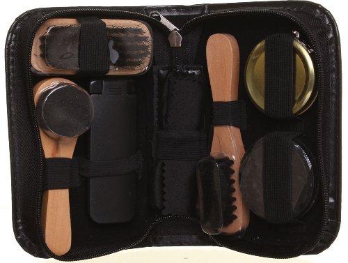 Herren Damen Leder Schuhreinigungs-Set, mit Reißverschluss, faltbar, tragbar, mit Schuhcreme und...