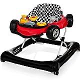 PREMIUM Lauflernhilfe/Baby Walker mit Spielcenter (SPORTWAGEN-DESIGN) (ROT/SCHWARZ)