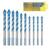Forets Pour Carrelage Verre, ZoomSky 10 Pcs Foret Multi-matériaux Triangle...