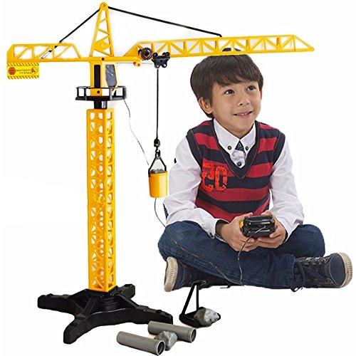 Générique Jeu Grue Rotative de Chantier Enfant Télécommandée - 55 cm - Engin de Chantier Jouet