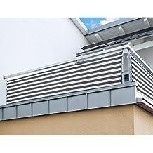 suchergebnis auf f r balkon sichtschutz grau weiss. Black Bedroom Furniture Sets. Home Design Ideas