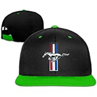 Huseki ABSOP Ford Mustang GT Adjustable Snapback Hip-hop Baseball Cap KellyGreen