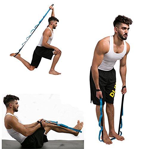 Wokee Yoga Strap,Fitness Pilates Physiotherapie Stretch-Gurt,200 * 2,5 cm,Polyester / Baumwolle,Gymnastik-Gurt