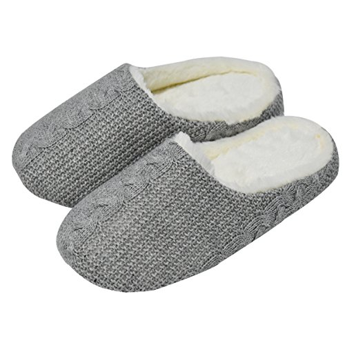 Oncai Memory Foam Fodera Leggera In Lana Pantofola In Lana Per Signore E Signori Outdoor / Indoor A-grey