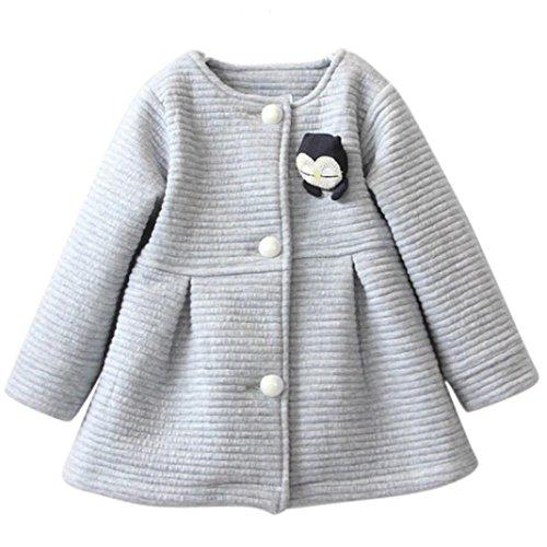 Janly Herbst Winter Kinder Jacken Baby Single Breasted Kind Mantel Mädchen Outerwear Jacken für Mädchen Bow Girl Clothes (Höhe: 105-120CM, (Creeper Für Kostüm Mädchen)
