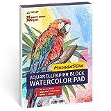 A5 Aquarell-Papier 300g, Weiß, 35 Blatt | Aquarellblock Din A5 von Tritart