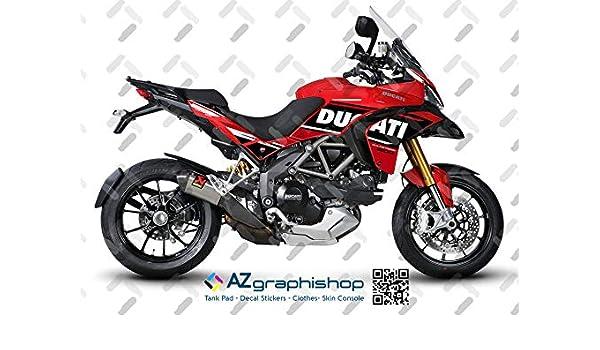 Sticker Set Motorrad Ducati Multistrada 1200 2010–2014 White FS-MULTI10-14