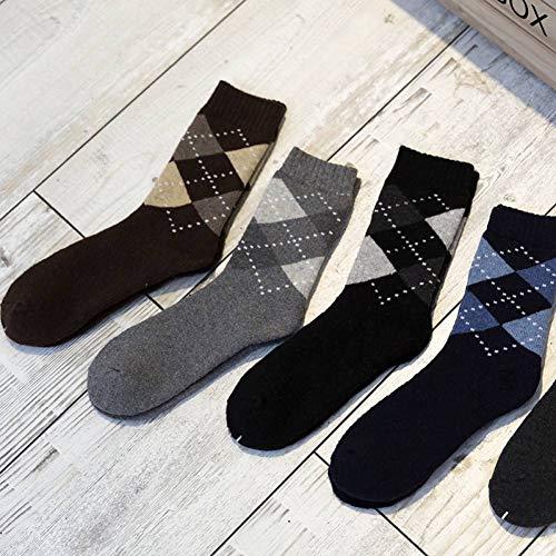 Preisvergleich Produktbild WGHUA Herren Winter Dicke Kaschmirsocken Dicke Warme Socken Diamant Handtuch Und Socken Frottee Socken.5 Paar