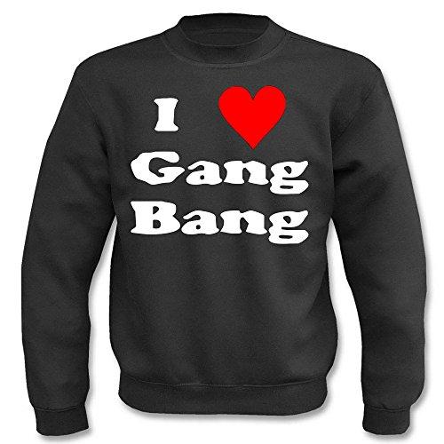 Pullover - I love Gang-Bang Schwarz