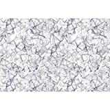#5: ArtzFolio Bright Monochrome Marble Art & Craft Gift Wrapping Paper 18 x 12inch;SET OF 10 PCS