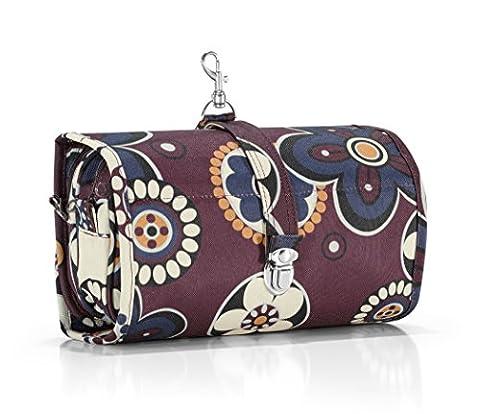 Reisenthel Wrapcosmetic, Large Hanging Toilet Bag, Wash Bag, Make-Up Bag, Beauty Case, marigold / colourful floral pattern,