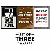 #6: Motivational Posters For Office And Study Room - Set of 3 Inspirational Wall Quotes | Size 12 x 18 Inch