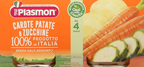 Plasmon Omogeneizzato di Verdure Carote Patate Zucchine 24 Vasetti da 80 gr