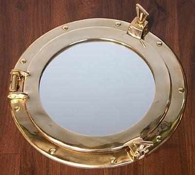 Nostalgischer Spiegel Bullauge Messing Maritim 20cm